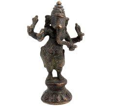 Brass Ganesha Chaturbhuja Standing Statue