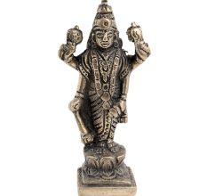 Brass  Lord Jaganath Vishnu Statue Standing On A Lotus Base