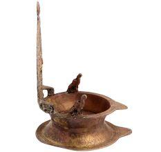 Brass Oil Lamp Diya Ashtavinayak And Laxmi form