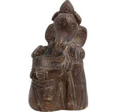 Handmade Brass Ganesha Statue On Stone