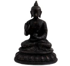 Black Brass Meditating Buddha Tibetans Art
