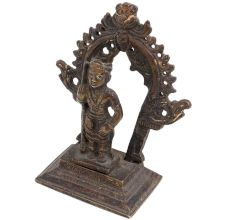 Brass Lord Vishnu And Prabhavali Worship Statue