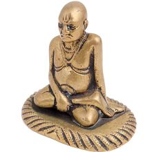 Brass Sitting Guru Statue