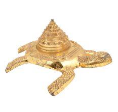 Brass Turtle With Storage Box With Stupa