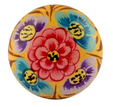 Red & Blue Colourful Designer Wooden Knob
