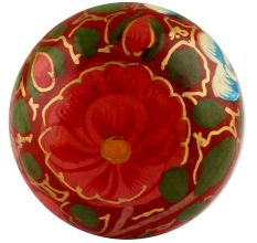 Red & Green Designer Wooden Knob
