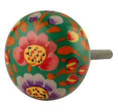 Colourful Beautiful Wooden Knob
