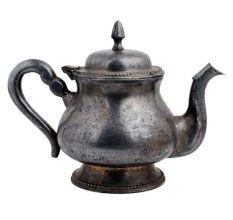Uncommon shape Indian Old Brass Vintage Tea  milk Kettle nice handle Vintage Metal Teapot Vintage Breackfast Table Decoration G66-436