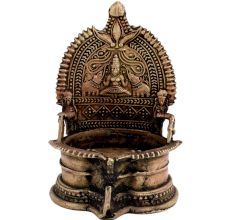 Decorative Brass Goddess Laxmi Diya Oil Lamp