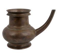 Brass Kindi Sagar Pot With A Curved Spout