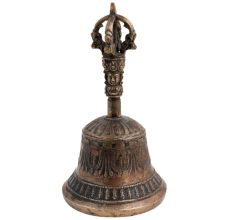 Brass Vajra Bell And Dorje Prayer Bell Vajra