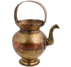 Brass kamandal Holy Water Pot With handle And Stout