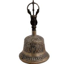 Vintage Brass Singing Buddhist Dorje Vajra Bell