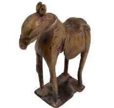 Handmade Brass Standing Statue Folk Art Décor