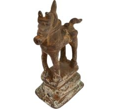Old Used Standing Horse statue On A  Raised Platform