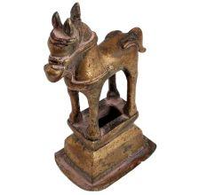 Handmade Brass Horse Statue Indian Folk Art