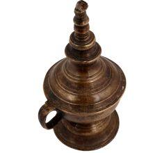 Vintage Brass Household  Single Wick Oil Lamp