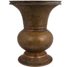 Brass Urn Shape Pot Spiral Engraved Design Vase