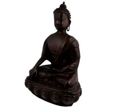 Brass Sitting Buddha Statue Home Decoration