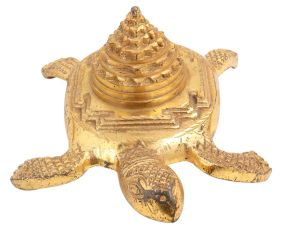 Brass Turtle With Storage Box With Stupa