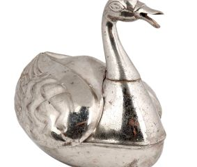 Brass Duck Storage Box Silver Nickel Box Home Decoration