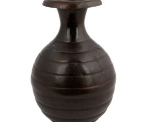 Brass Pot With Indian Segmented Surahi Shape