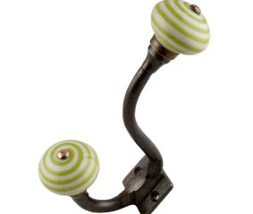 Old Lime Striped Knob
