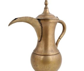 Brass Coffee Pot Pitcher With Spout And Finial