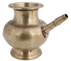 Religious Golden Brass Pot With Stout