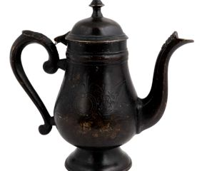 Handmade Black Brass Coffee Pot Finial Top