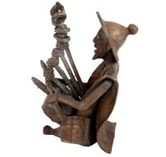 Brass Tribal Musician With Rare Musical Instrument