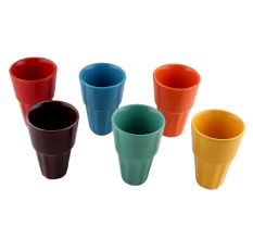 Handcraft Ceramic Multicolour Tea Cups in Set of 6