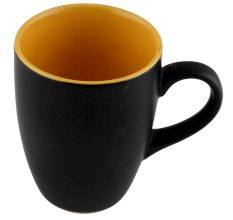Handcraft Decorative Ceramic Coffee Mug In Black & Yellow