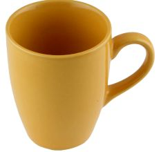 Handcraft Decorative Ceramic Yellow Coffee Mug