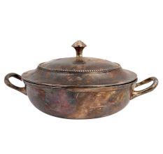 Brass Rice Serving Pot With Lid And Handles