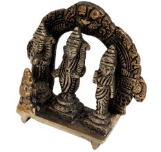 Brass Ram Darbar With Prabhavali And Dragon Head