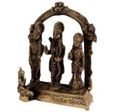 Engraved Brass Ram Darbar Hindu Worship Statue