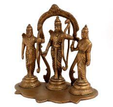 Brass Ram, Sita, Laxman & Hanuman Ram Darbar Statue