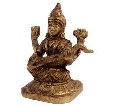 Brass Hindu Idol Goddess Saraswati Statue