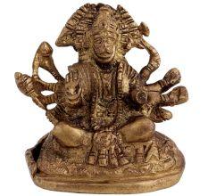 Brass Patnchmukhi Lord Hanumanji Statue