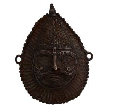 Brass Wall Hanging Of Indian God With Mukut