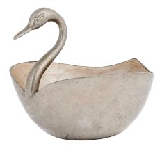 Brass Duck Bowl Planter Pot In Silver Polish