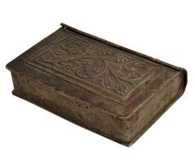 Floral Design White Metal Storage Betel Nut Box