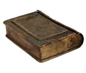 Unique White Metal Storage Box Book Design