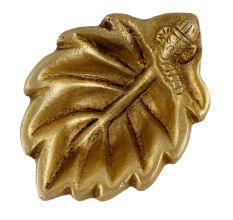 Brass Ganpati And Leaf Oil Lamp Diya