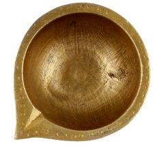 Brass Round Shaped Diwali Oil Lamp Diya