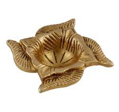 Traditional Brass Diya In Swastika Oil Lamp