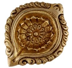 Designer Round Brass Oil Lamp Festive Diya