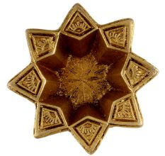 Brass Starry Flower Oil Lamp Diwali Decoration Gift