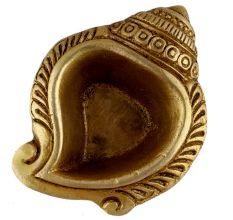 Brass Decorative Conch Shaped Oil Lamp